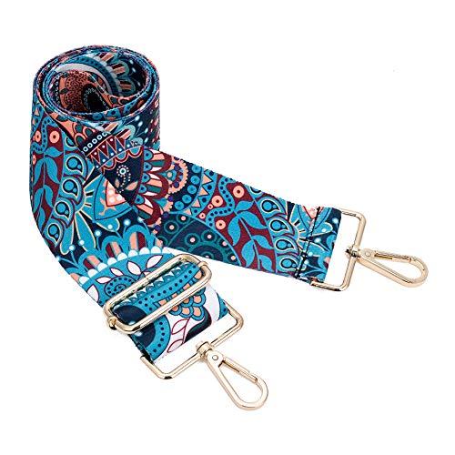 Wide Shoulder Strap Adjustable Replacement Belt Crossbody Canvas Bag Handbag (wide: 1.97(5CM) Indian pattern)