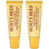 Burt's Bees Lip Balm, Beeswax, Squeezable 0.35 oz (2 PACK)