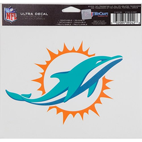 Colors Miami Dolphins (WinCraft NFL Miami Dolphins Ultra Color Decal, 5