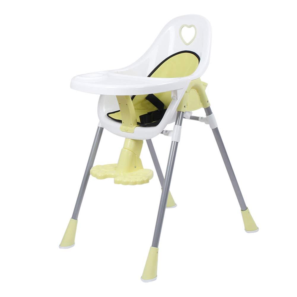 ベビーチェア 高い椅子赤ちゃんダイニングチェア授乳テーブル椅子子供の椅子椅子軽量幼児椅子 (色 : イエロー いえろ゜)  イエロー いえろ゜ B07GT16WWH