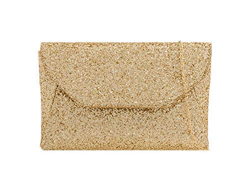 Silver Diva Light Ladies for Envelope Gold Clutch Bag Haute Glitter fwg7q0x