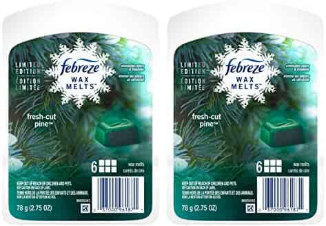 Febreze Wax Melts - Fresh-Cut Pine - Holiday Collection 2016-6 Count Wax Melts Per Package - Net Wt. 2.75 OZ (78 g) Per Package - Pack of 2 Packages