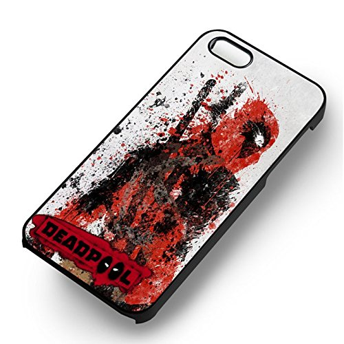 Art Of Deadpool for Cover Iphone 7 Case (Black Hardplastic Case) O3V3VM