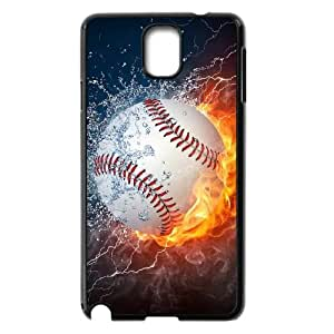 YNACASE(TM) Fire Yellow Softball Brand New Phone Case for Samsung Galaxy Note 3 N9000,Custom Case with Fire Yellow Softball