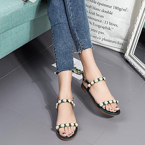 Confort black Chanclas Sweet Sandalias Figura Sandalias Informal Para Mujer Wild WHLShoes Y Verano Con Planas Femenina Plano Con qAaxEHw
