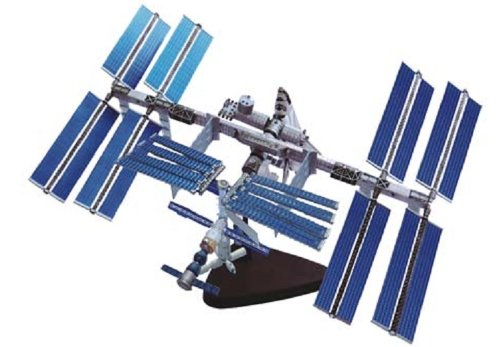 Three-dimensional puzzle 4D puzzle International Space Station and space shuttle