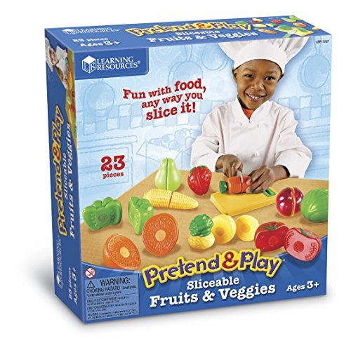 - Learning Resources Sliceable Fruits & Veggies, 23 Pieces