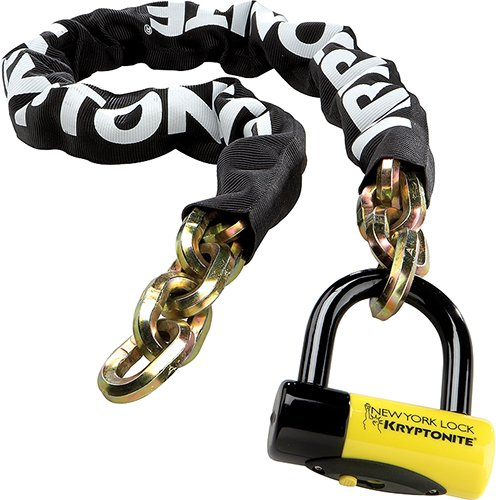 Hardened Steel Chain (Kryptonite New York Fahgettaboudit 1415 Bicycle Chain and New York Disc Bike Lock, 14mm x 60