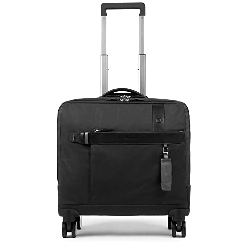 1bd496f6385723 Amazon.com: PIQUADRO Trolley leather and fabric Black - BV4509W90-N ...