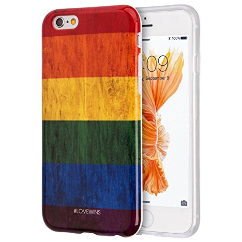 Dream Wireless TIIP6S-PTF-RNB Dream Wireless Patriotic Vintage Flag Series TPU Case for iPhone 6 and (Rnb Series)