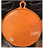 Large Mexican Comal Cazo Griddle Flat Pan Dish Tray Clay Barro Tortilla Maker For Toasting Roasting Chilies Vegtables Tomatos 18'' Paella