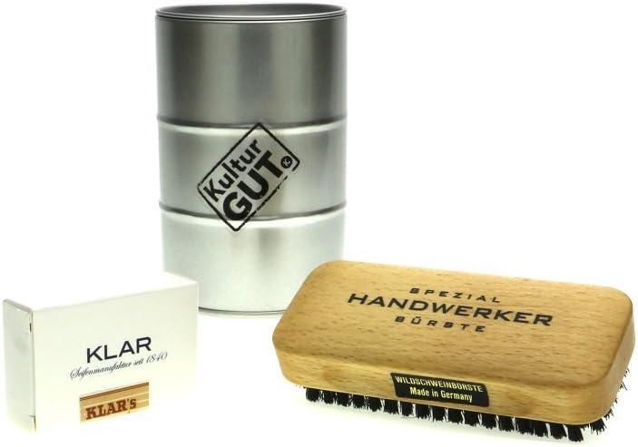 KulturGut Il Regalo per l' artigiano, pennello Artigianale con sapone Riesling Nella Botte