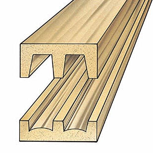 Hardwood Sliding Door Track and Upper Guide (set) (Sliding Glass Doors Cabinet)