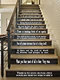 "Hogwarts Set of 12 Quotes Harry Potter Inspired Vinyl Wall or Stairs Decals [WHITE] by GMDdecals Dumbledore Sirius Wizard Decor Size 24"" x 2-4"" per quote"