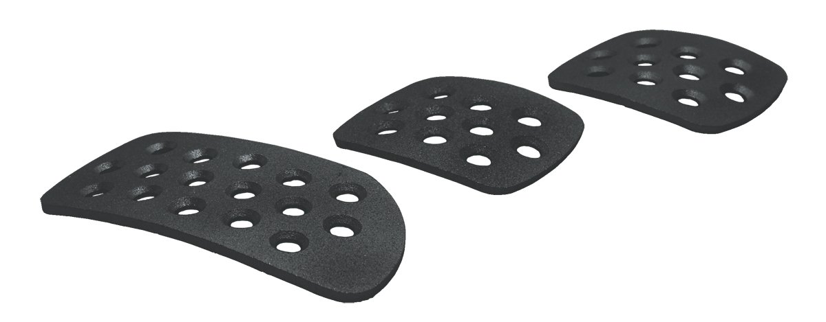 Aluminum Pedal Pad Kit Motamec Alloy Pedals Extension Plates Set BLACK