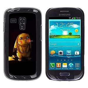 Paccase / SLIM PC / Aliminium Casa Carcasa Funda Case Cover - Cute Pikochu Animal - Samsung Galaxy S3 MINI NOT REGULAR! I8190 I8190N