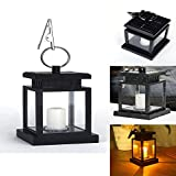 Decorative Solar LED Candle Light, elecfan Waterproof Hanging Lamp for Yard Garden Decoration and Illumination