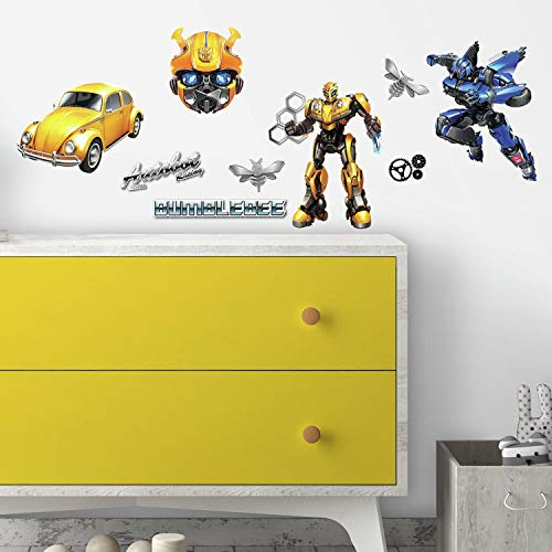 (RoomMates Transformers Bumblebee Peel And Stick Wall Decals)