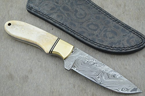 Huge Sale By Leather-n-dagger | Professional Custom Handmade Damascus Steel Hunting Knife LD114B
