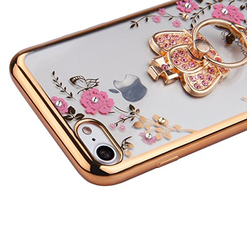 iPhone 6S Plus Hülle,weich Silikon Case Hülle für iPhone 6 6S Plus,EMAXELERS iPhone 6S Plus Hülle Transparent,iPhone 6S Plus Hülle Blumen,iPhone 6S Plus Hülle Clear,iPhone 6 Plus Hülle Blau Light Must V Tpu 6