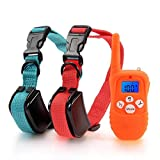 Training Dog Collar - Mega Power 330 Yards Remote Dog Training Collar Rechargeable E-collar with Beep / Vibration / Shock Electronic Electric Collar with Visible Silicone Buttons