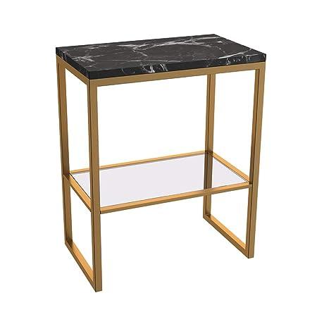 Hogar Oficina ocio mesa hierro marmol, doble capa de ...