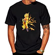 Dragon Ball Goku Graphic Tee Men's Short Sleeve T-Shirt Black