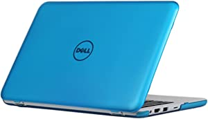 "iPearl mCover Hard Case for 11.6"" Dell Inspiron 11 3162 / 3164 series (released after Dec. 2015, NOT compatible with older 3137/3138 and 3147 / 3148 2-in-1 series ) 3162 / 3164 Laptop (Aqua)"