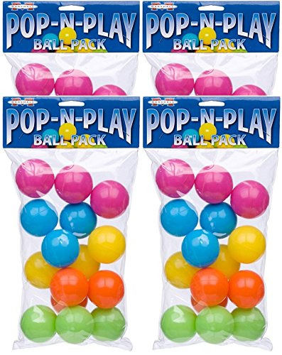 (Marshall Pet Products Pop-N-Play Ball Pack (Pack of 4))