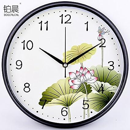 Relojes modernos relojes de cuarzo sencillo reloj de pared personalizado creativo del reloj chino en la