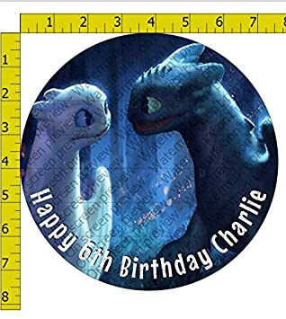 The Hidden World Night and Light Fury Image Edible Frosting Cake Topper 1//4 Sheet How To Train Your Dragon