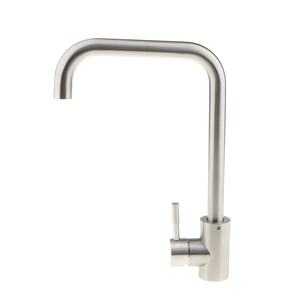 "Blesiya 14"" Pull-Out Kitchen Sink Faucet Spray Swivel Pull Down Plumbing Mixer, Single Hole, Single Handed"