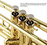 EastRock Gold Trumpet Brass Standard Bb Trumpet Set for Beginner, Student with Hard Case, Gloves, 7C Mouthpiece,Trumpet Cleaning Kit-Lacquer Gold