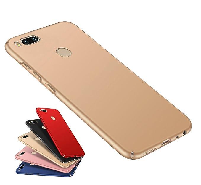 wholesale dealer ca1c5 076e0 Xiaomi MI A1, 5X [Ultra Thin] Case, Best Share Full Edge Protective Slim  Fit Matte Hard PC Back Cover Case, Gold