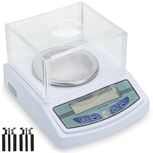 Scale 3000 (3000 x 0.01g Laboratory Scale Analytical Precision Balance Scale LCD Digital Electronic Analytic Balance 10mg Scientific Lab Instrument with 500g Calibration Weight and Power Adapter)