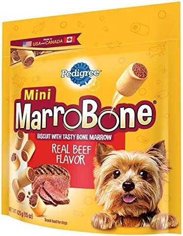 Pedigree Marrobone Real Beef Flavor Mini Snacks For Dogs 15 Oz. Pack Of 8