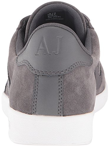 Armani Jeans Heren Lage Top Suede Veterlogo Sneaker Grigio