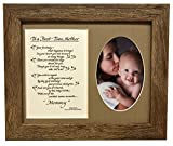 All Things For Mom To A First Time Mother Picture Frame with Burlap Mat 8