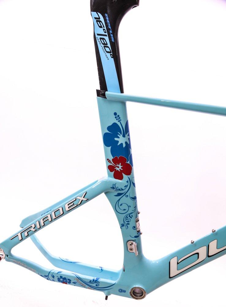 Blue Triad EX Carbon 55.5cm Women's Triathlon / TT Bike Frame Fork 700c NEW by Blue Competition Cycles (Image #4)