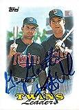 Kent Hrbek Gary Gaetti autographed baseball card (Minnesota Twins) 1988 Topps #609