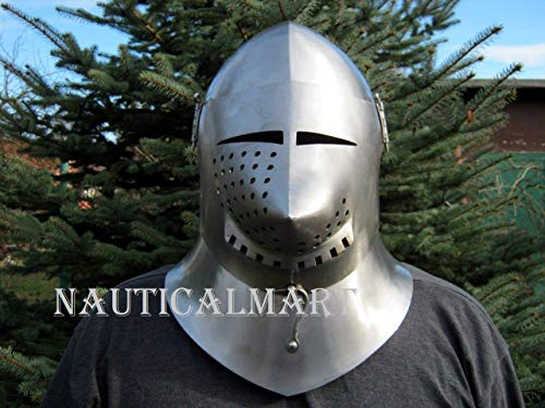 NAUTICALMART Medieval Knight 16th Century Close Helmet -