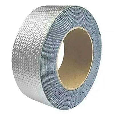 Feuille d'aluminium en caoutchouc butyle, tube de toit étanche auto-adhésif ceinture de caoutchouc butyle réparation navire forte fissure de piégeage (20cm*5m) Bricolage