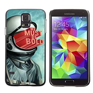 Licase Hard Protective Case Skin Cover for Samsung Galaxy S5 - Abstract Astronaut Illustration