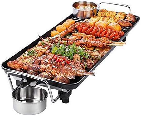MEIGONGJU Korean électrodomestiques Fours Smokeless Barbecue antiadhésives Machine Plaque de Cuisson électrique Teppanyaki Viande grillée Pan 1400W