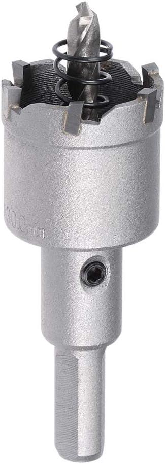uxcell カーバイドホールカッタードリルビット ステンレス合金 穴径30mm 長さ89mm
