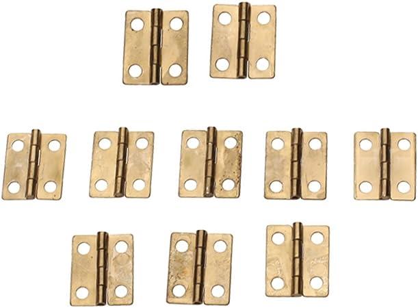 10pcs Antique Mini Hinges Vintage Brass Hinges pour Meubles en Bois Bo/îte de Rangement Cadeau charni/ère