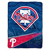 "The Northwest Company Officially Licensed MLB Philadelphia Phillies Speed Plush Raschel Throw Blanket, 60"" x 80"""