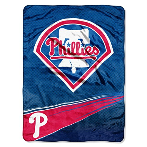(The Northwest Company Officially Licensed MLB Philadelphia Phillies Speed Plush Raschel Throw Blanket, 60