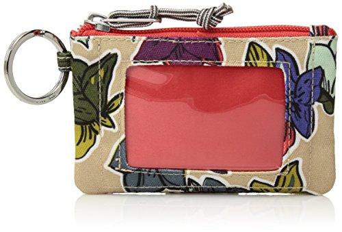 Lighten Up Zip Id Case Credit Card Holder, Falling Flowers Neutral, One Size