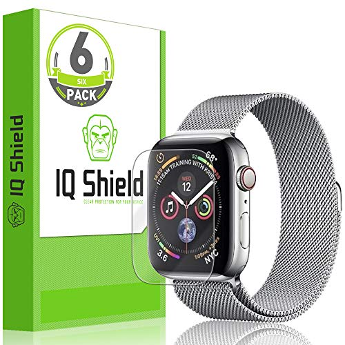 - IQ Shield Screen Protector Compatible with Apple Watch Series 4 (40mm)(6-Pack)(Max Coverage) LiquidSkin Anti-Bubble Clear Film
